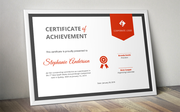 ribbon certificate template docx by inkpower on creativemarket microsoft word resume. Black Bedroom Furniture Sets. Home Design Ideas