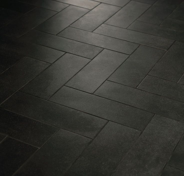 black tile bathrooms