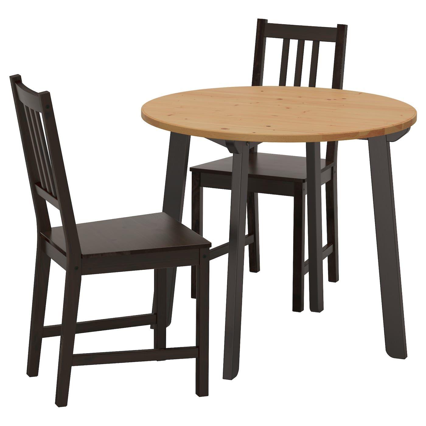 Tisch Und 2 Stuhle Gamlared Stefan Antikbeize Hell Braunschwarz