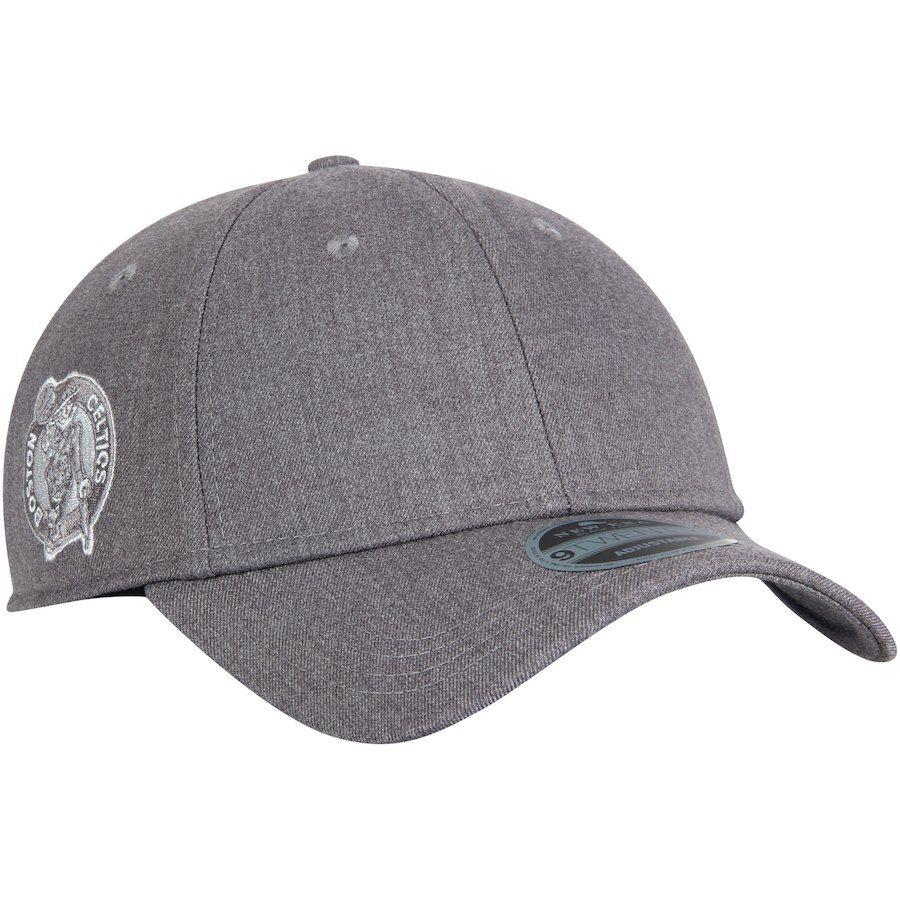 8cdab369e8a Men s Boston Celtics New Era Gray Black Label Series Suiting 9TWENTY  Adjustable Hat