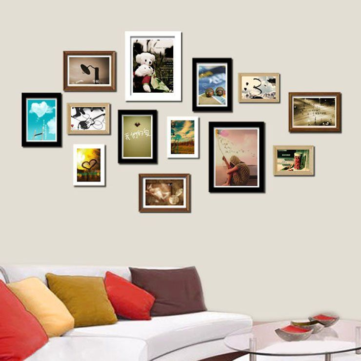 collage picture frames wall