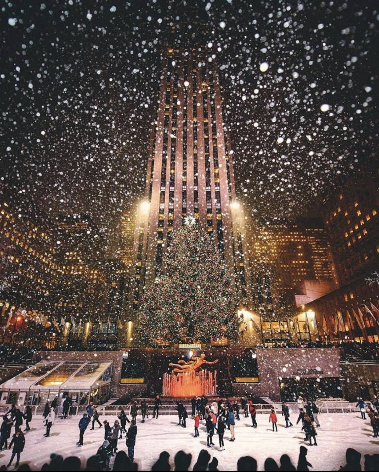 Rockefeller Center at Christmastime, NYC ~ Beautiful Tree! | Holiday ...