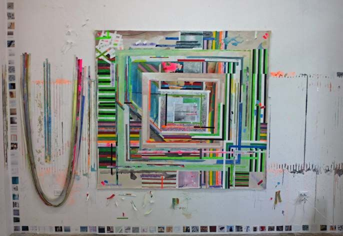 FRANKLIN EVANS_pm foundation 02, 2011, acrylic on canvas, 72 x 78