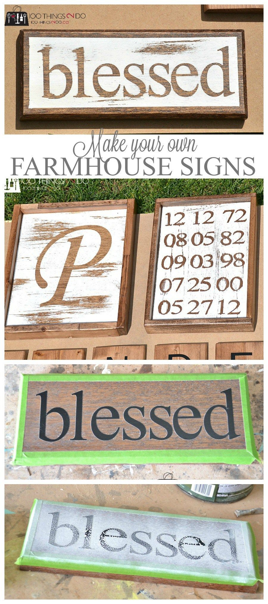 Make your own farmhouse signs craft cricut and pallets