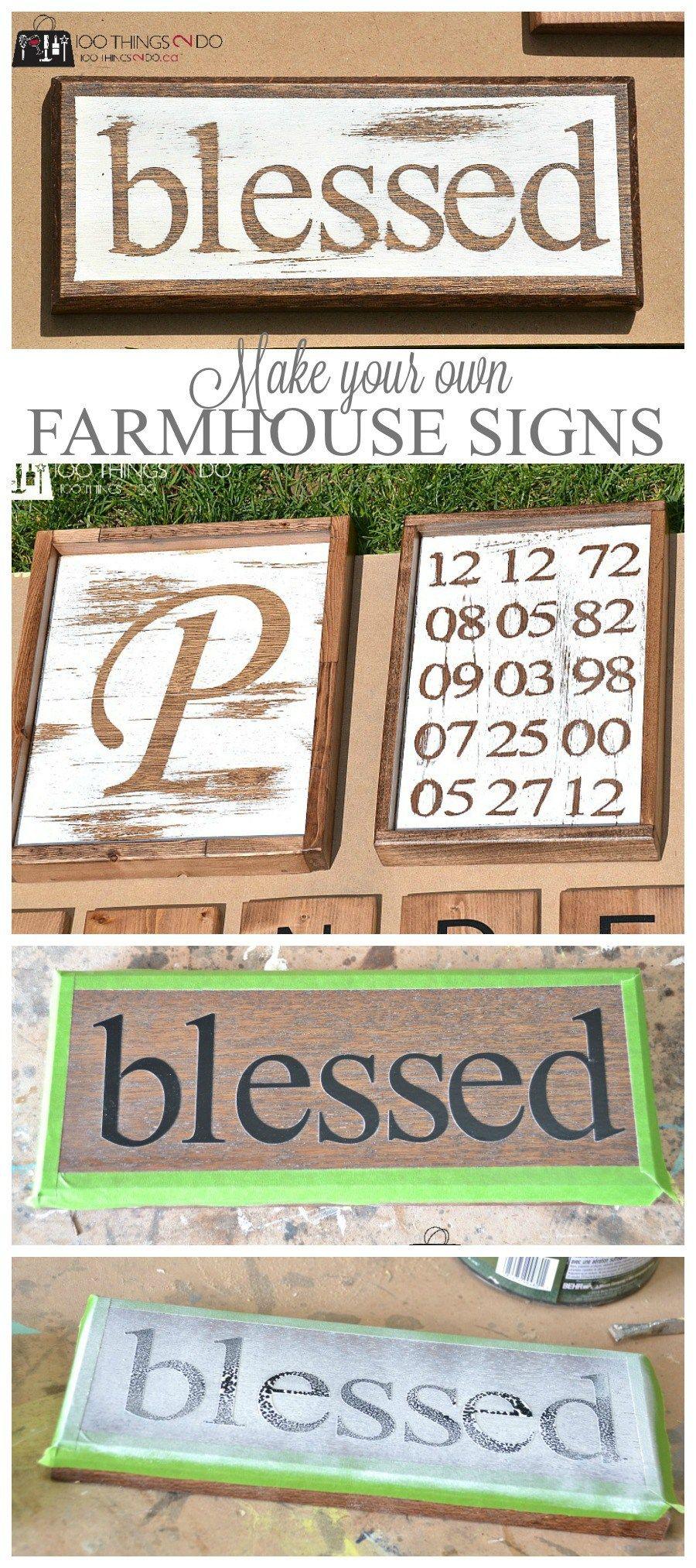 Make Your Own Farmhouse Signs Farmhouse style sign, Diy