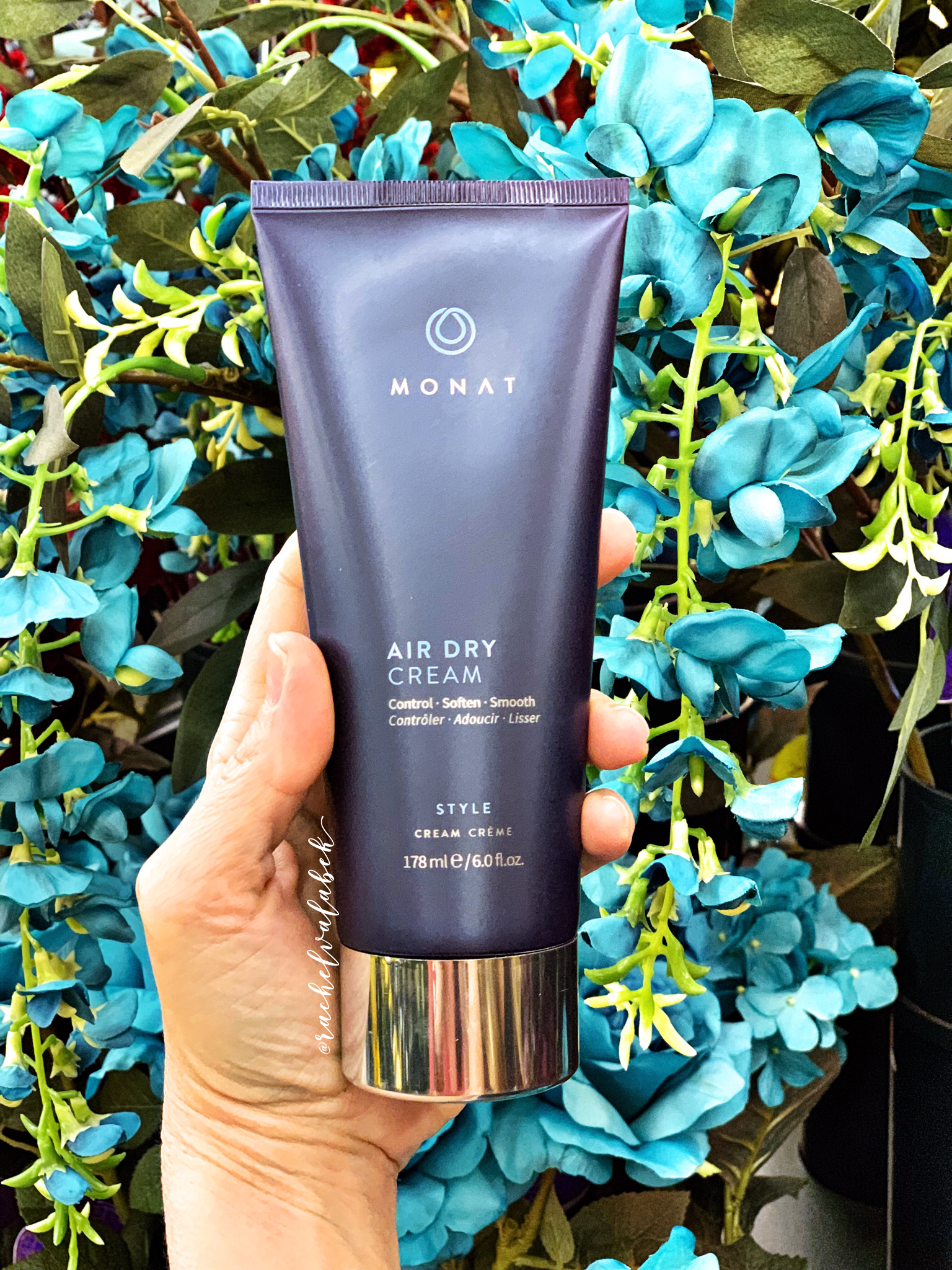 Monat's Air Dry Cream helps dry your hair naturally