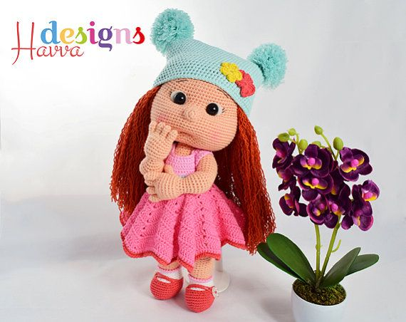 Amigurumi Askina Doll Pattern : Crochet pattern mia with colored clothes amigurumi doll