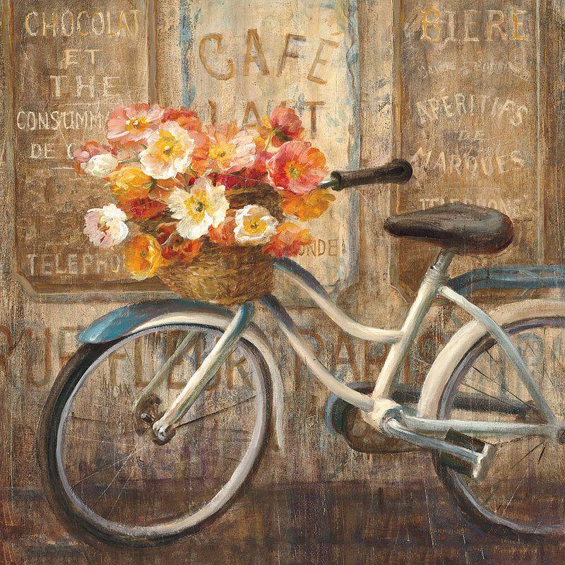 Винтажные картинки с велосипедом