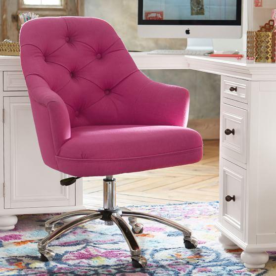 velvet tufted desk chair | pbteen | l & s | pinterest | tufted