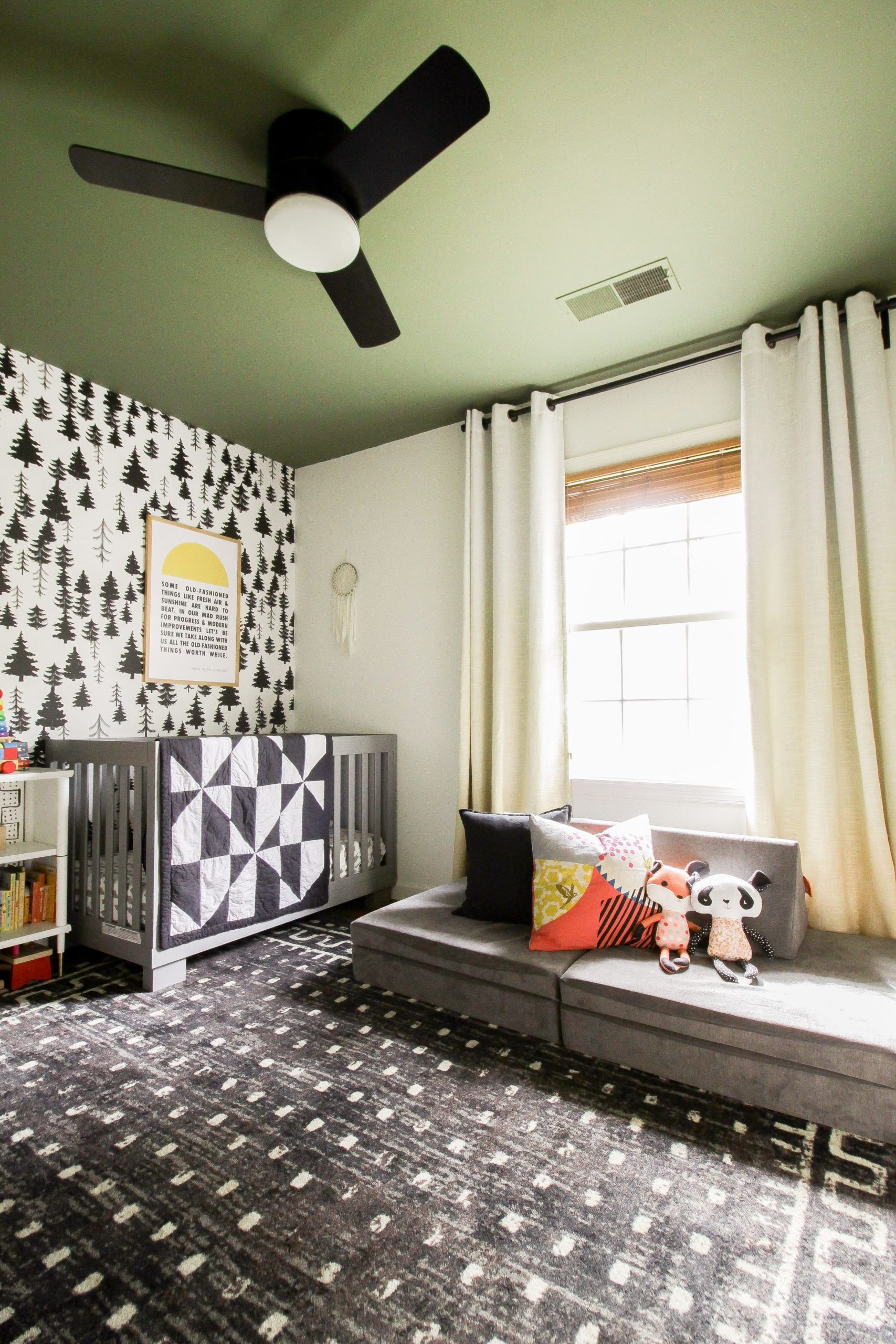 How To Select Colored Paint For The Ceiling Wilder S Room Reveal In 2020 Kid Room Decor Pink Living Room Rooms Reveal
