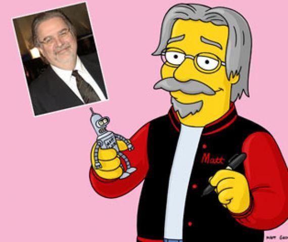 Matt Groening, el genio que creo a los dibujos animados, que han ganado el fanatismo de mucho. Un dato curioso es que estos fueron dibujados en tan solo unos segundos, como simples garabatos