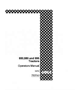 Best case ih david brown 850 880 990 tractor operators