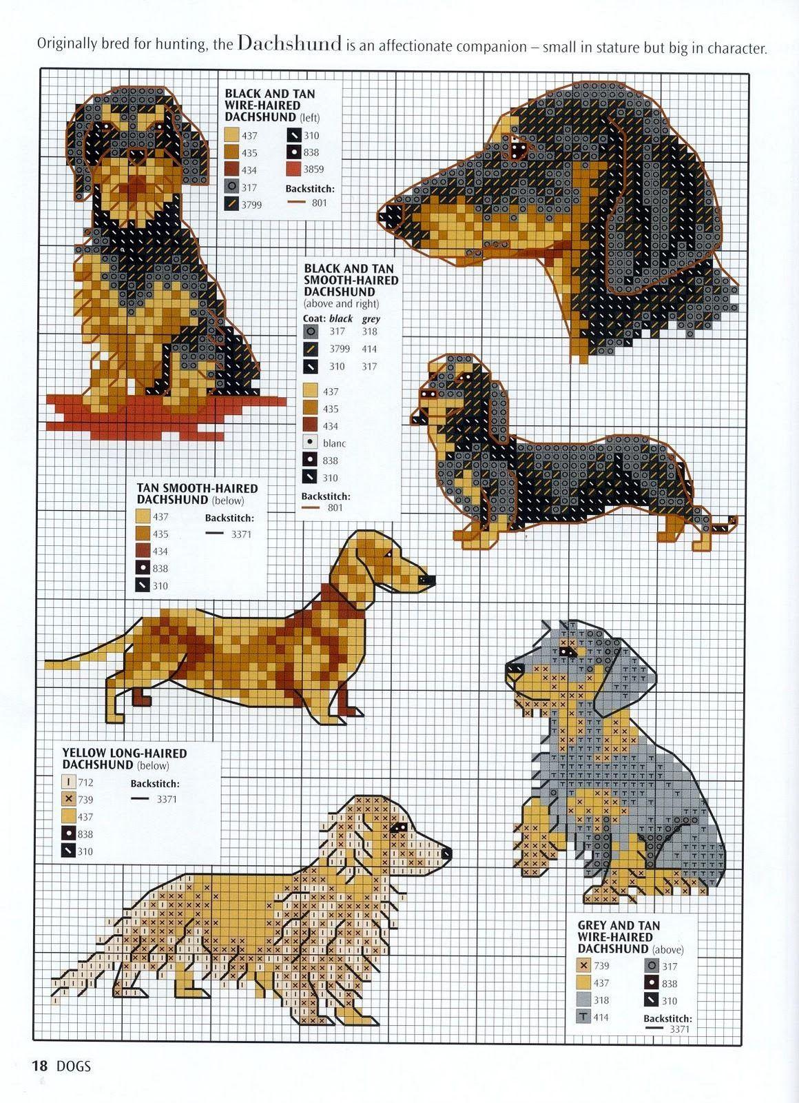 Ago-Works Butterfly: cani e cuccioli Punto Croce Schemi Gravhunde ...
