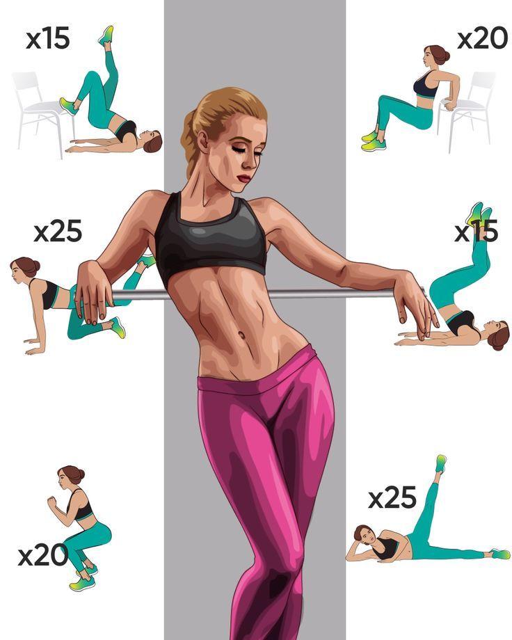 Workout für schlankeren Körper in 4 Wochen - Sport und Frauen #fitnesschallenges