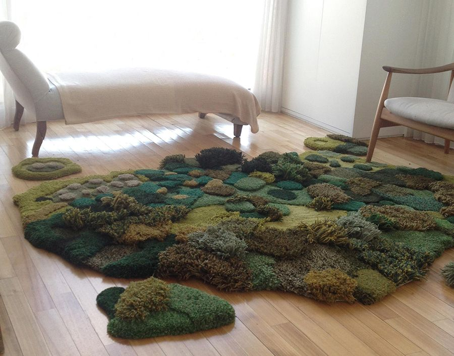Crafts Lush Grassy Carpets Inspired By The Pasturelands Of Argentina Instagram These Aren T Your Grandmother S Shag Ca Alfombras Cosas De Casa Hacer Alfombras