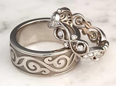 Unique Wedding Rings Unique Wedding Bands For Men Women Krikawa Unique Wedding Band Sets Celtic Wedding Rings Wedding Rings Vintage