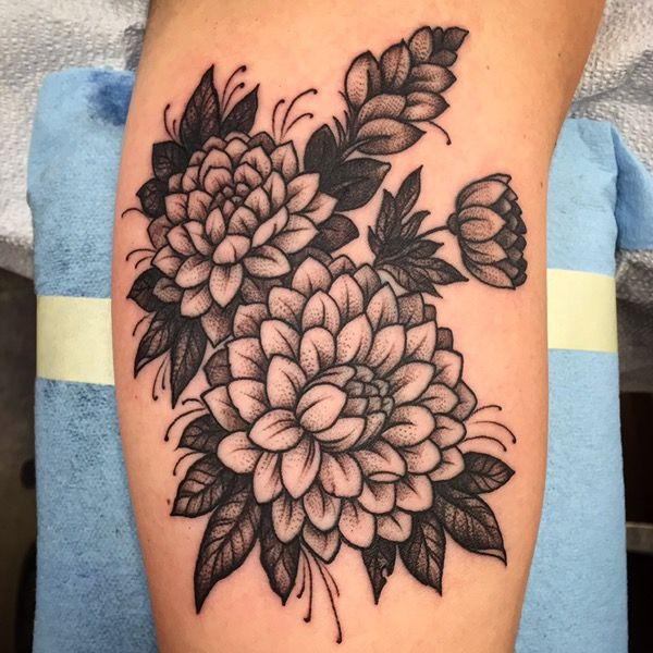 black and grey flower tattoos - google search | tattoo | tattoos