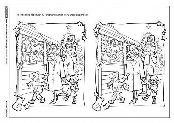 Weihnachten Fehlerbild Fehlerbilder Vorschule