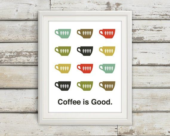Coffee Home Décor Coffee Print Coffee Print Coffee Poster Mid Century  sc 1 st  Pinterest & Coffee Home Décor Coffee Print Coffee Print Coffee Poster Mid ...