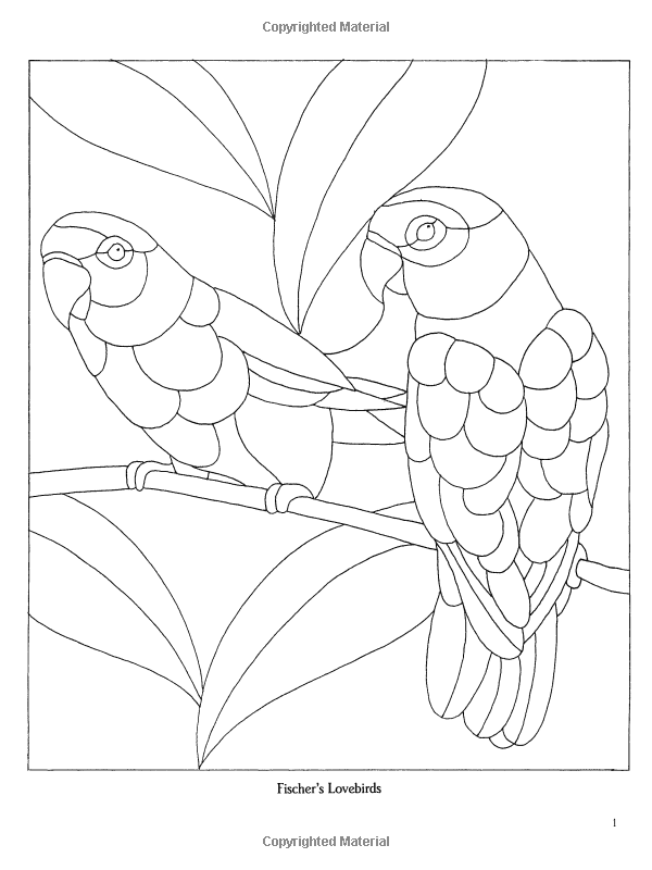 Decorative Birds Stained Glass Pattern Book (Dover