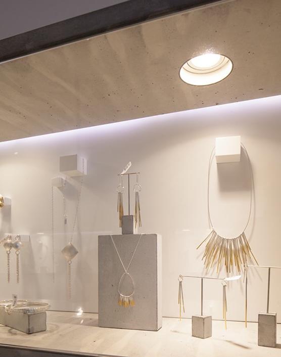 Sarah May Jewellery / modern white simple jewelry display ... - photo#14