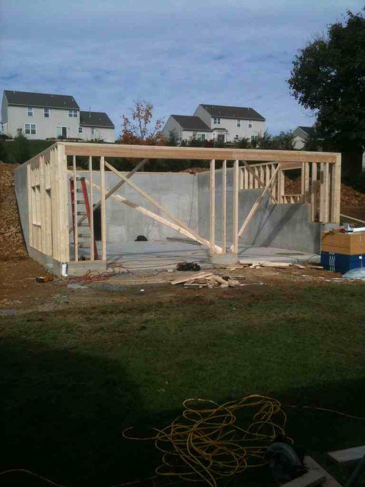 Image Result For Detached Garage Built Into Hillside Building A