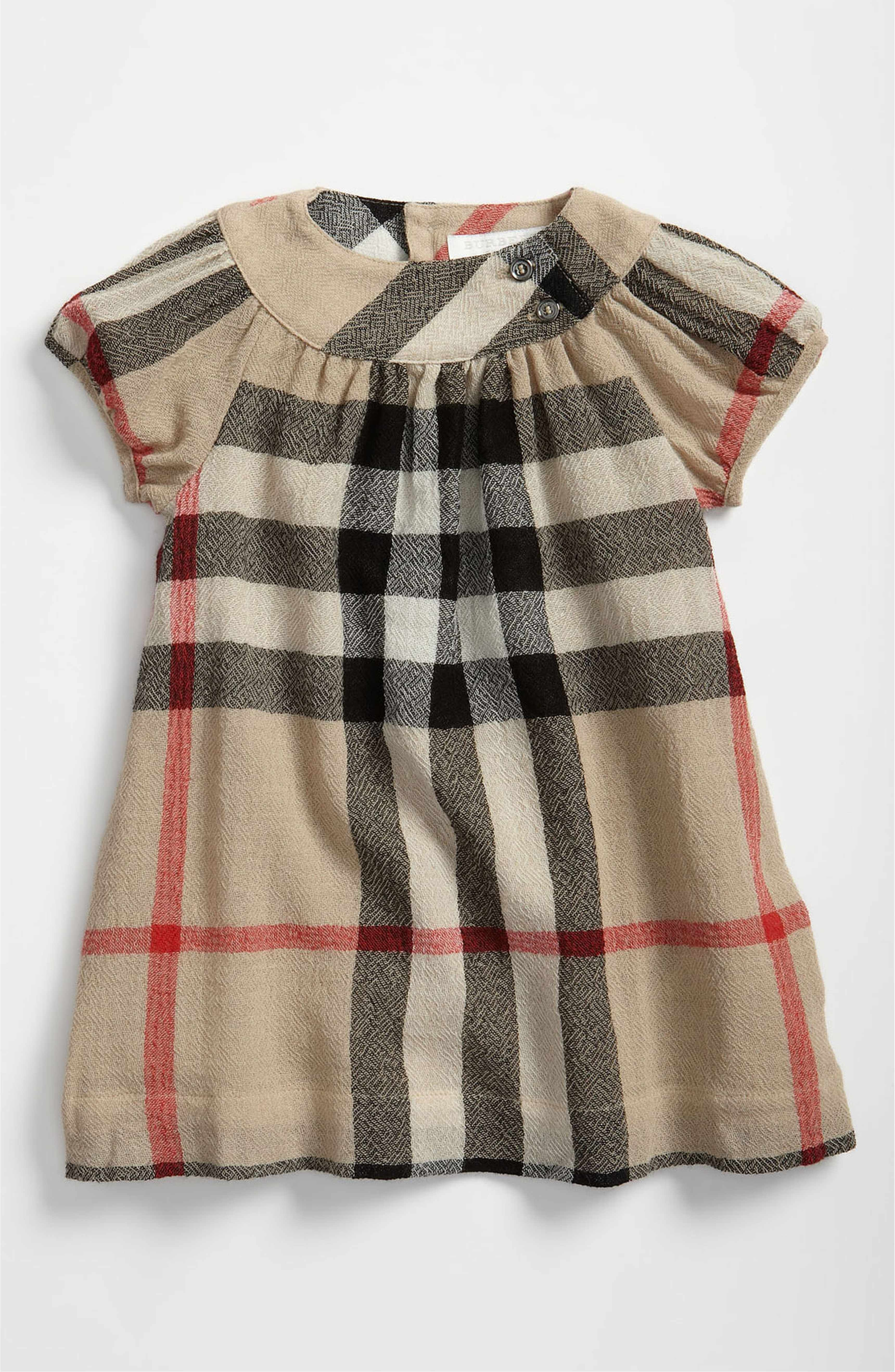Main Image Burberry Check Print Dress Toddler