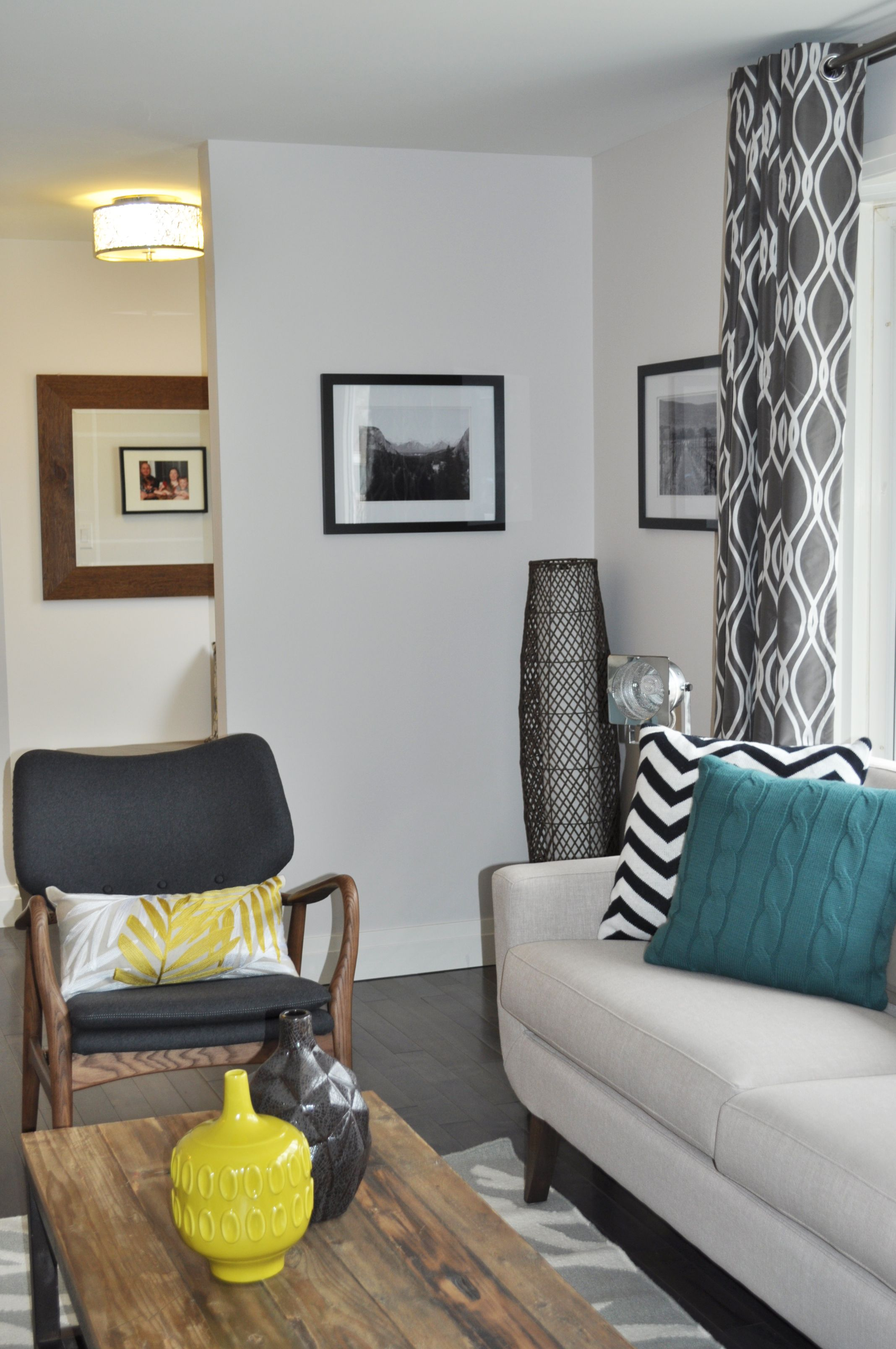 Newly Renovated Open Concept Living Room. Modern Look And Feel. Teal/
