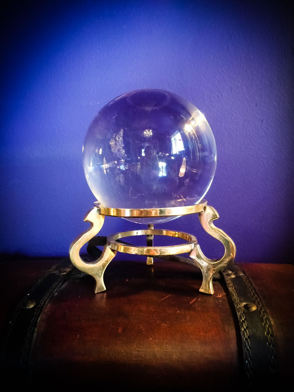 Crystal Ball & Vintage Stand // This beautiful crystal ball