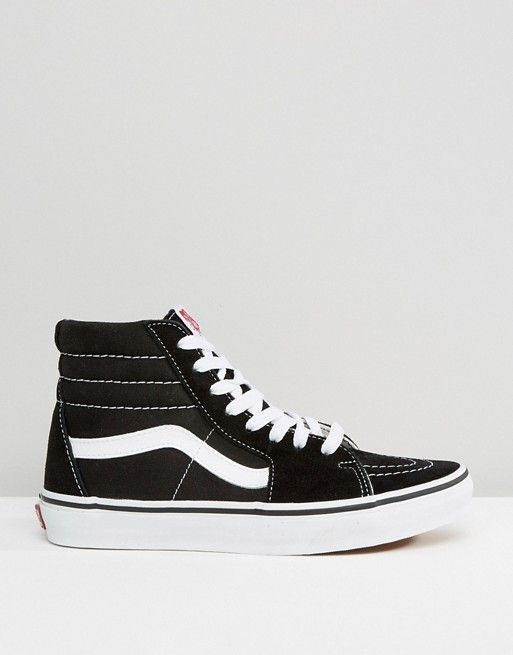 c2350d73f46f12 Vans Classic Sk8 Hi sneakers in black and white in 2019
