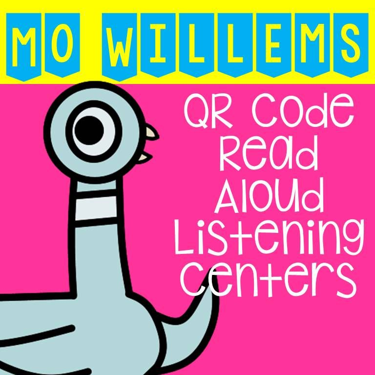 Distance learning mo willems qr code read aloud listening