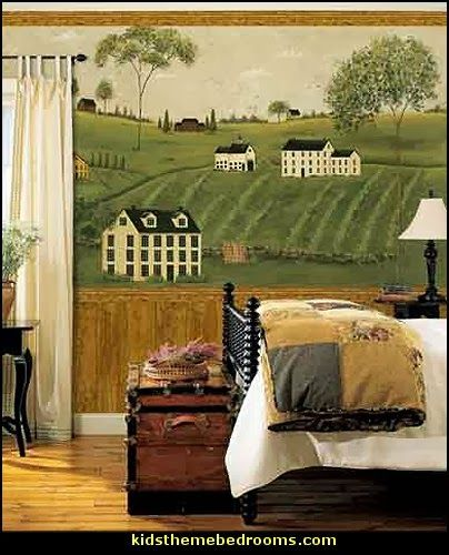 Folk Art Countrysides wall Mural Murals Pinterest Wall murals