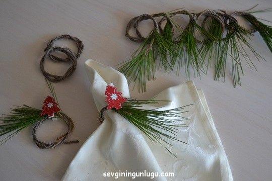 handmade, napkin rings, dıy, christmas, Güzel Evim, Sweet Home