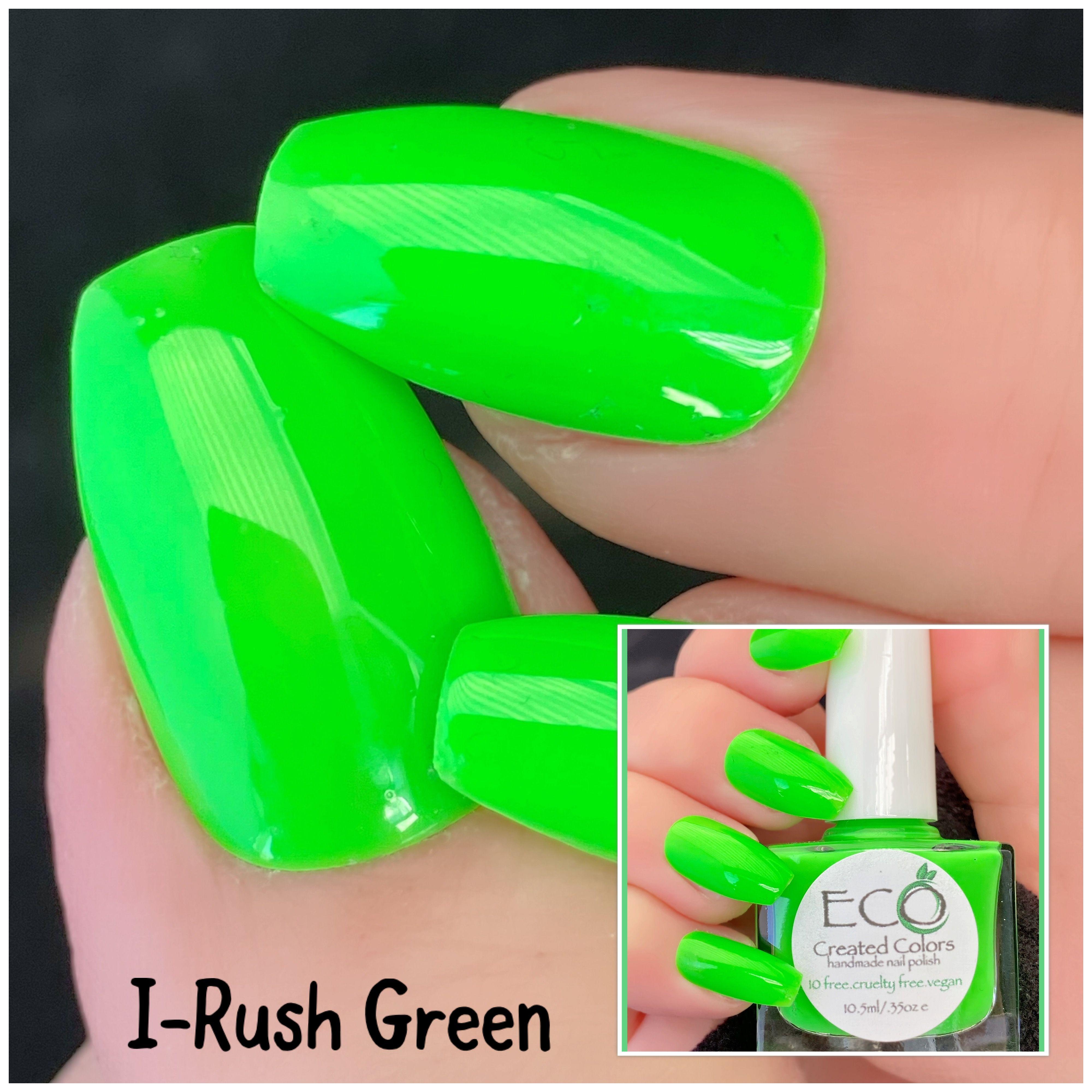 Green Neon Nail Polish Nail Lacquer 10 Free Nail Polish Etsy In 2020 Neon Nail Polish Neon Nails Vegan Nail Polish