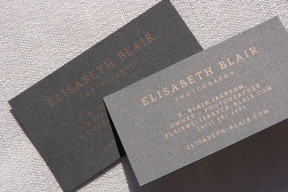 Elisabeth blair photography branding businesscards a metallic elisabeth blair photography branding businesscards a metallic bronze print on gray colourmoves Images