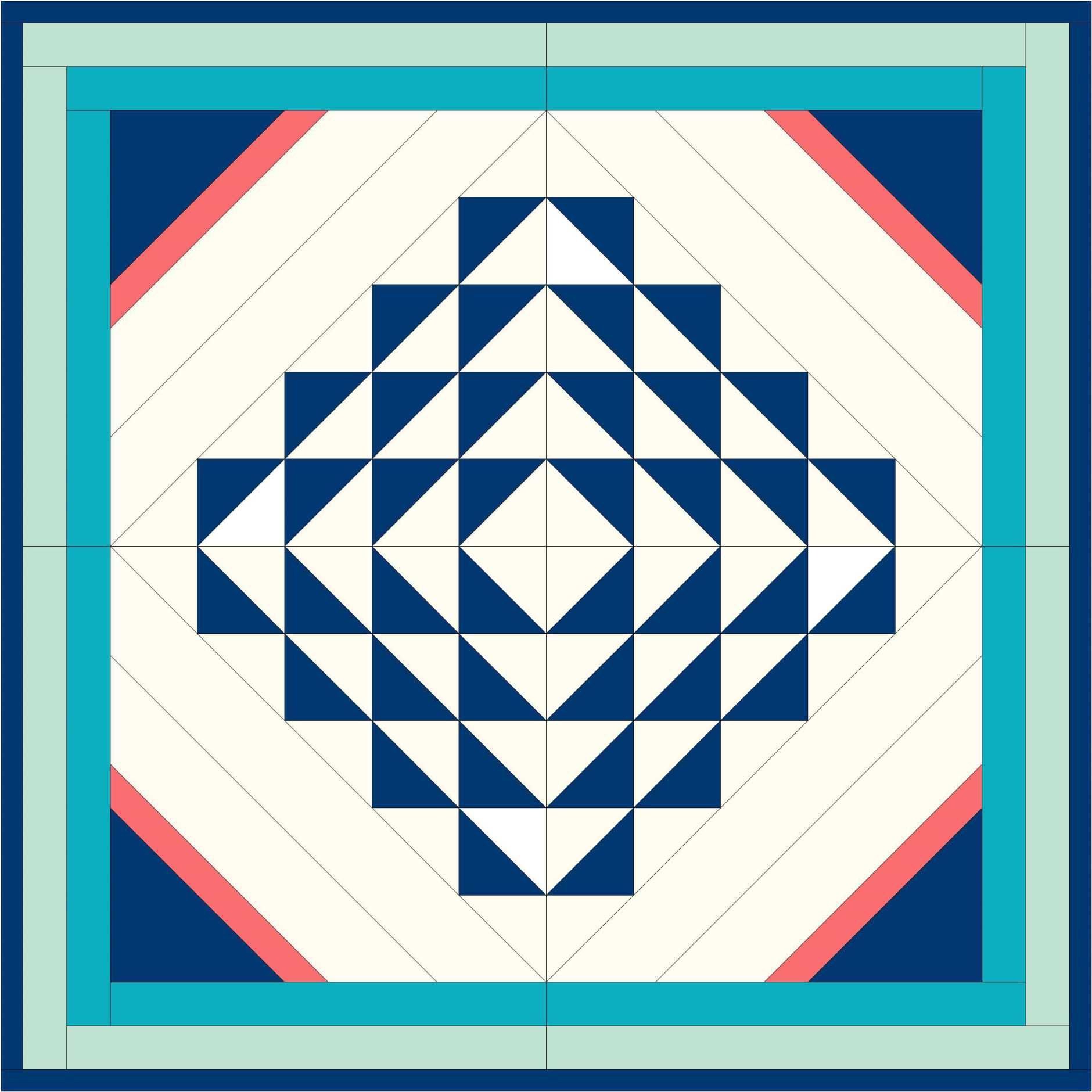 4 Block Image Ii 24 Inches Quilt Patterns Pinterest