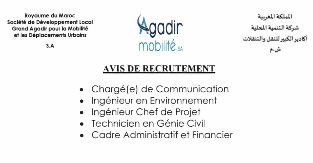 Concours Sdl Agadir Mobilite 5 Postes Agadir Management De Projet La Poste