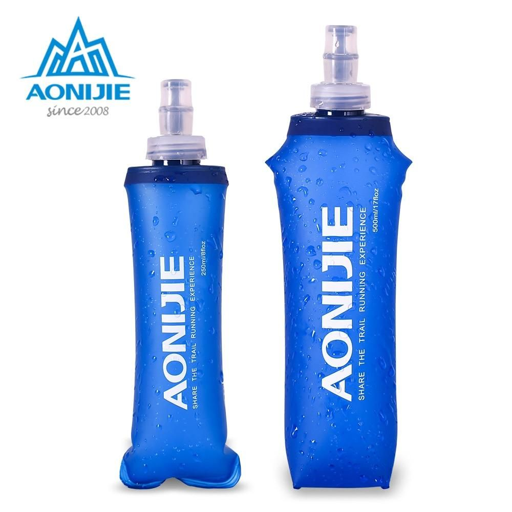 Sports 500mL Collapsible Soft Kettle Outdoor Cycling Silicone Water Bottle