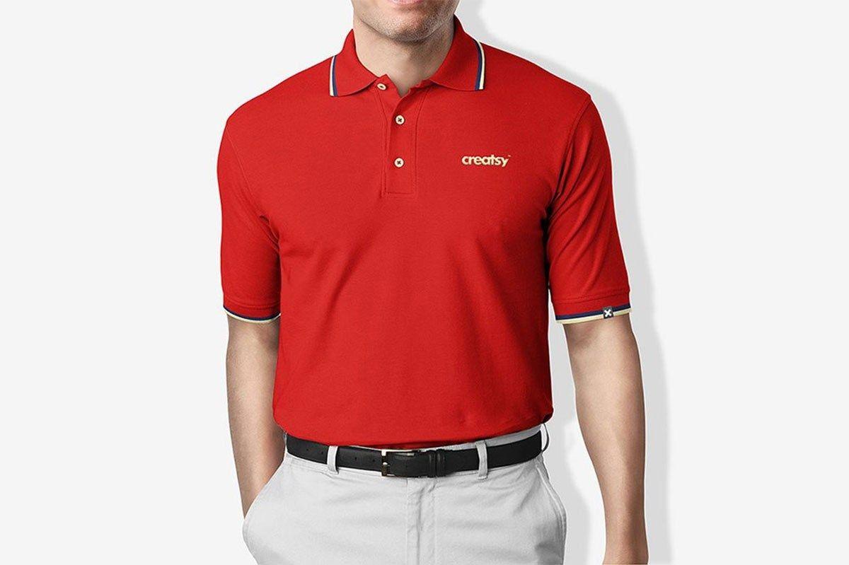 Free Polo Shirt Mockup Free Printable In 2020 Shirt Mockup Polo T Shirt Design Custom Polo Shirts