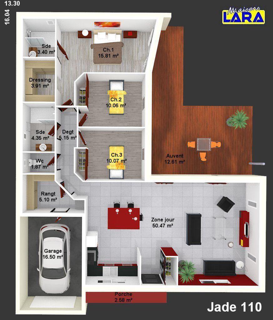 Maison   Jade   Maisons LARA   133620 Euros   110 M2 | Faire Construire Sa