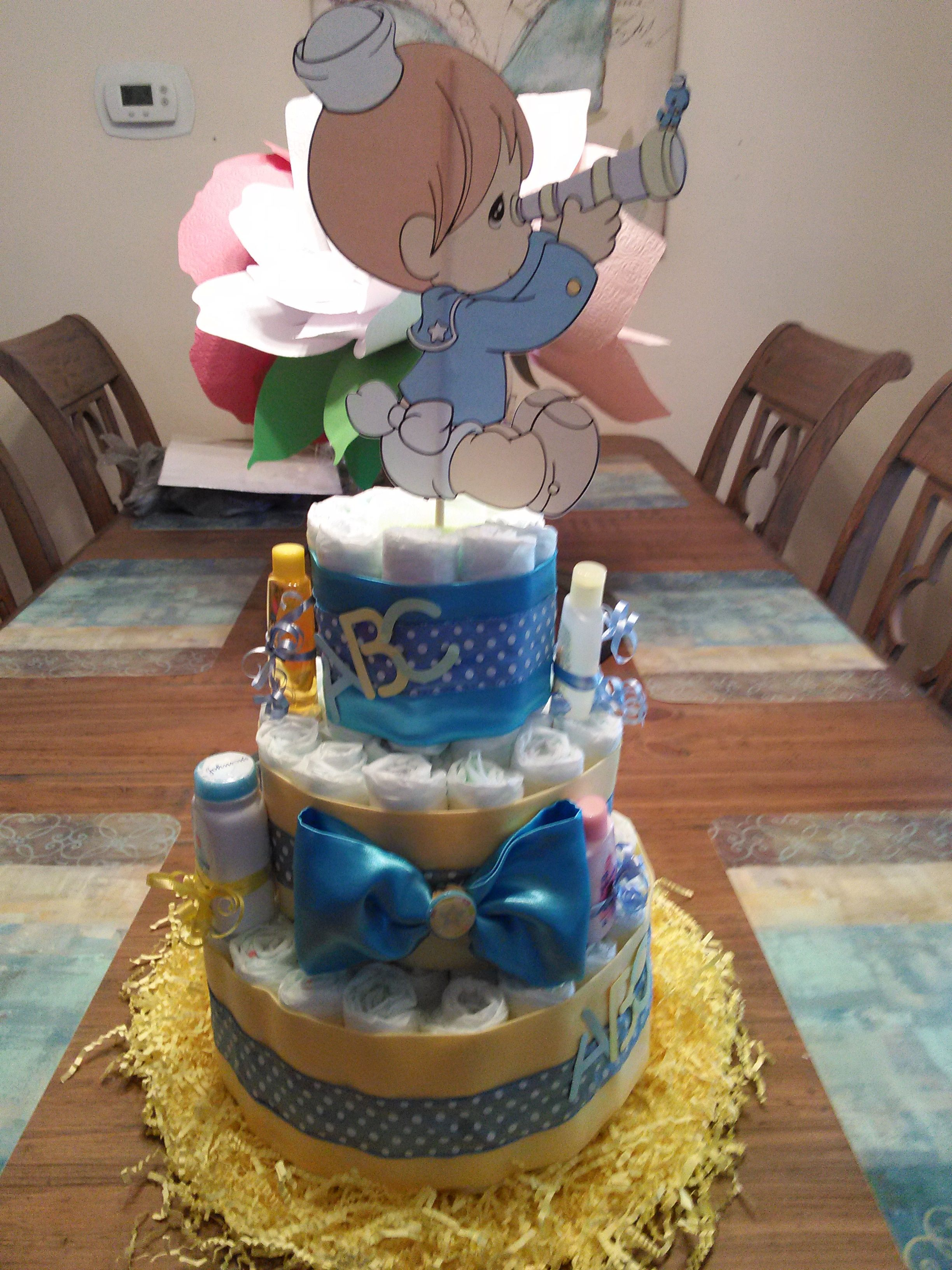 Precious Moments Baby Shower Diaper Cake Baby Stuff Baby