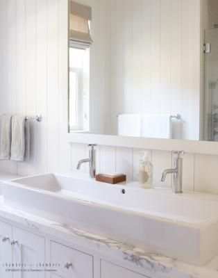 A Double Faucet Trough Sink Would Be Awesome In Our Master Bath Traditional Bathroom Large Bathroom Sink Small Bathroom