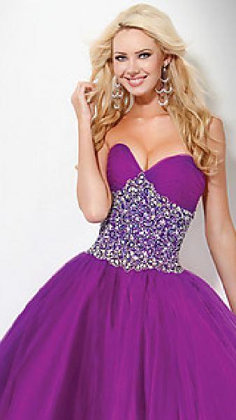 Cute Purple Ball Gown Strapless Satin Natural Evening Dress Sale lkxdresses22301xgr #longdress #promdress