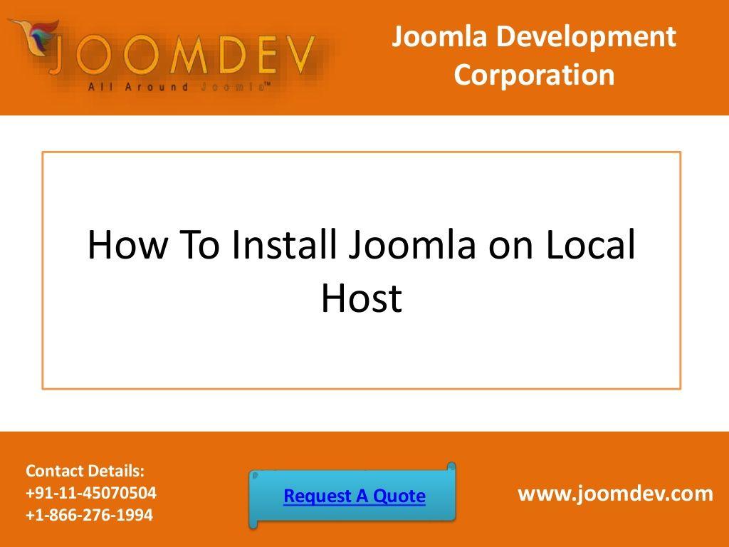 How To Install Joomla On Local Host Installation Joomla Hosting