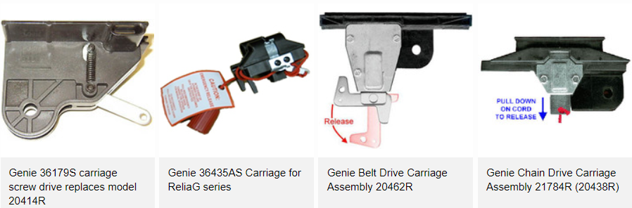 Basics And Replacement Genie Garage Door Carriages A Click Away Blog Carriage Garage Doors Garage Doors Garage Door Opener