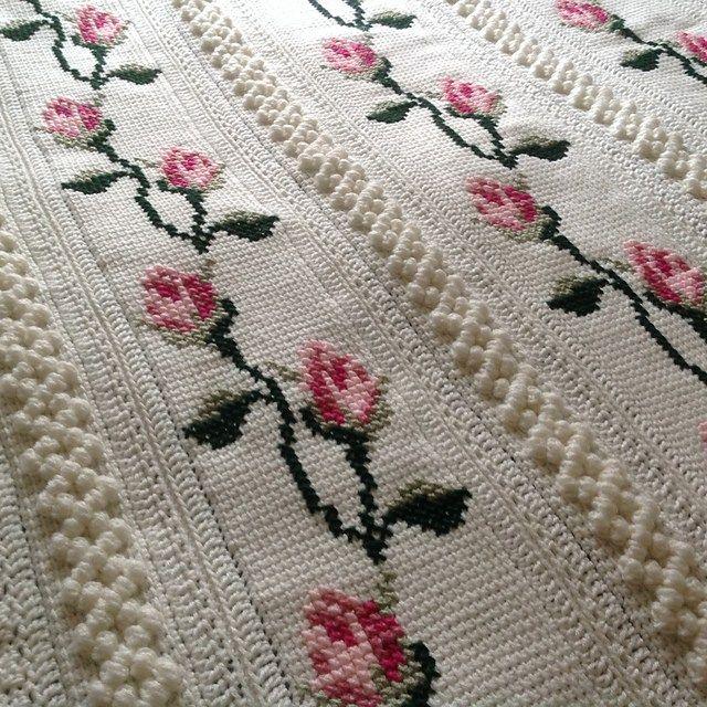 Cozy Rosebud Throw Crochet Pattern   Afghan Crochet Patterns   Pinterest