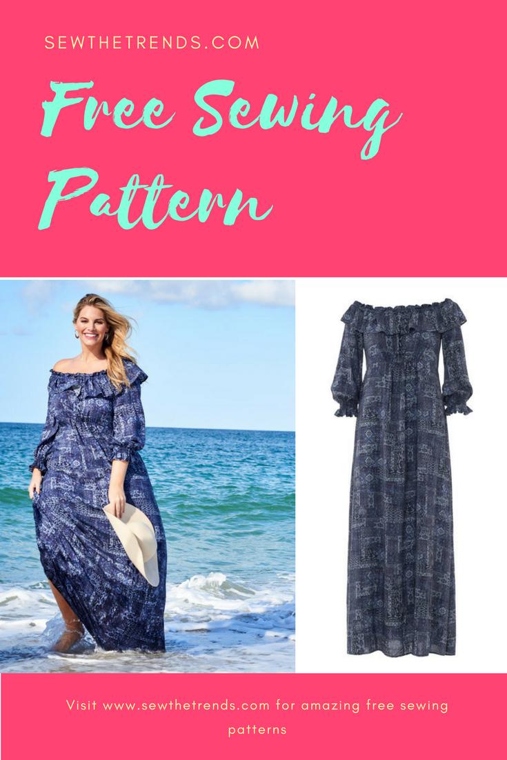 Off shoulder plus size dress sewing pattern free sewing off shoulder plus size dress sewing pattern free jeuxipadfo Gallery