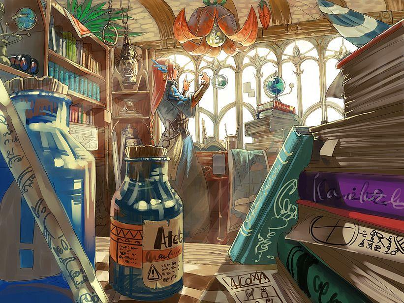 Alchemist S Shop 部屋 イラスト イラスト 魔法使い