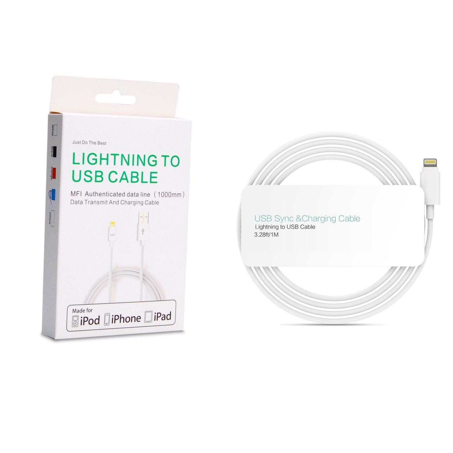 Apple MFi Certified lightning cable 1M / 3.28ft (2pack
