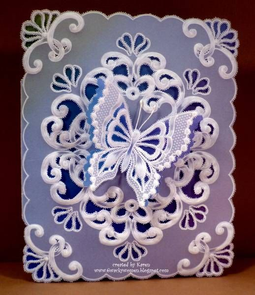 Parchment Butterfly by *1 wacky woman* - Cards and Paper Crafts at Splitcoaststampers